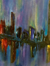 Load image into Gallery viewer, Reflections of the City Oil 20x20
