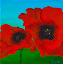 Load image into Gallery viewer, Peaceful Poppies #1 12x12