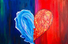 Load image into Gallery viewer, Fire and Ice the Kiss 24 x 36