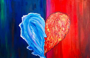 Fire and Ice the Kiss 24 x 36