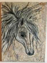 Load image into Gallery viewer, Sweet horse dark 18x24