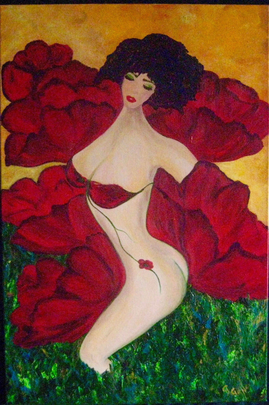 Eve She is the Poppy Large 24 x 36