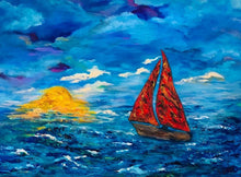 Load image into Gallery viewer, Moonlight Sail 30 x 40