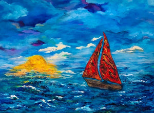 Moonlight Sail 30 x 40