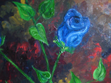 Load image into Gallery viewer, Abstract Blue Roses in Oil 18x24