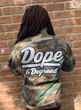 Load image into Gallery viewer, Dope & Degreed Patch Oversized Camo Jacket