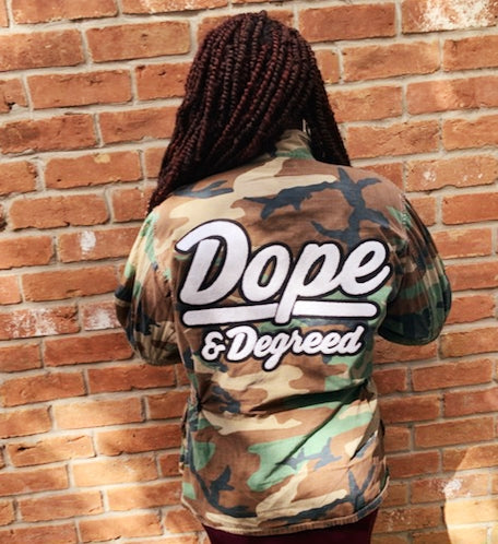 Dope & Degreed Patch Oversized Camo Jacket