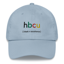 Load image into Gallery viewer, HBCU Black x Excellence Dad Hat