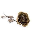 Personalized Gift - Gold Metal Rose for 50th Anniversary
