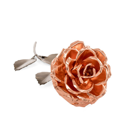 Personalized Gift - Copper Metal Rose for 7th Anniversary