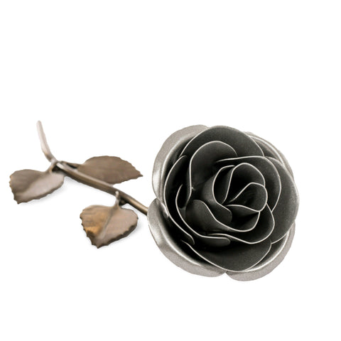 Personalized Gift - Silver Metal Rose for 25th Anniversary