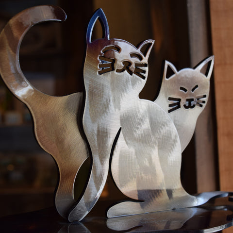 Personalized Gift- Iron Cat Sculpture for Cat Memorial and Decoration