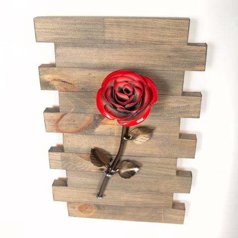 Personalized Gift - Framed Red Metal Rose for Iron 6th Anniversary