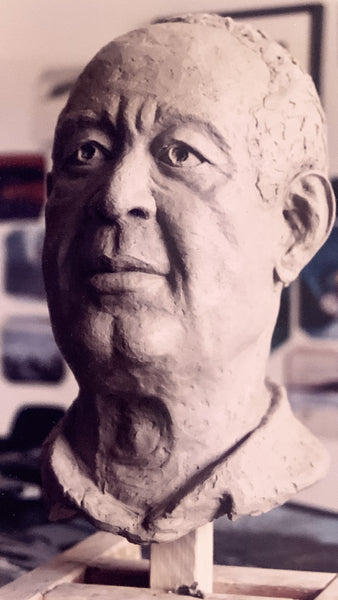 Dad | Stoneware Portrait Sculpture | Life -size Bust of my Dad | Bronze Patina | Capturing ones Likeness in art | Finding emotive expression in clay