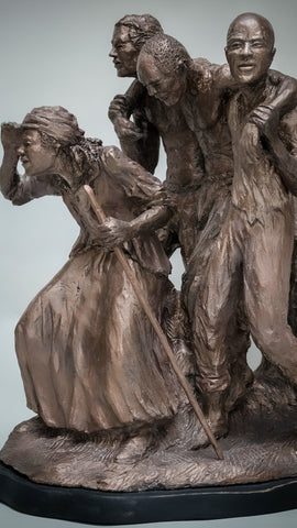 Freedom In View | Bronze Sculpture | Harriott Tubman | Leads a small group to freedom in Canada via The Underground Railroad