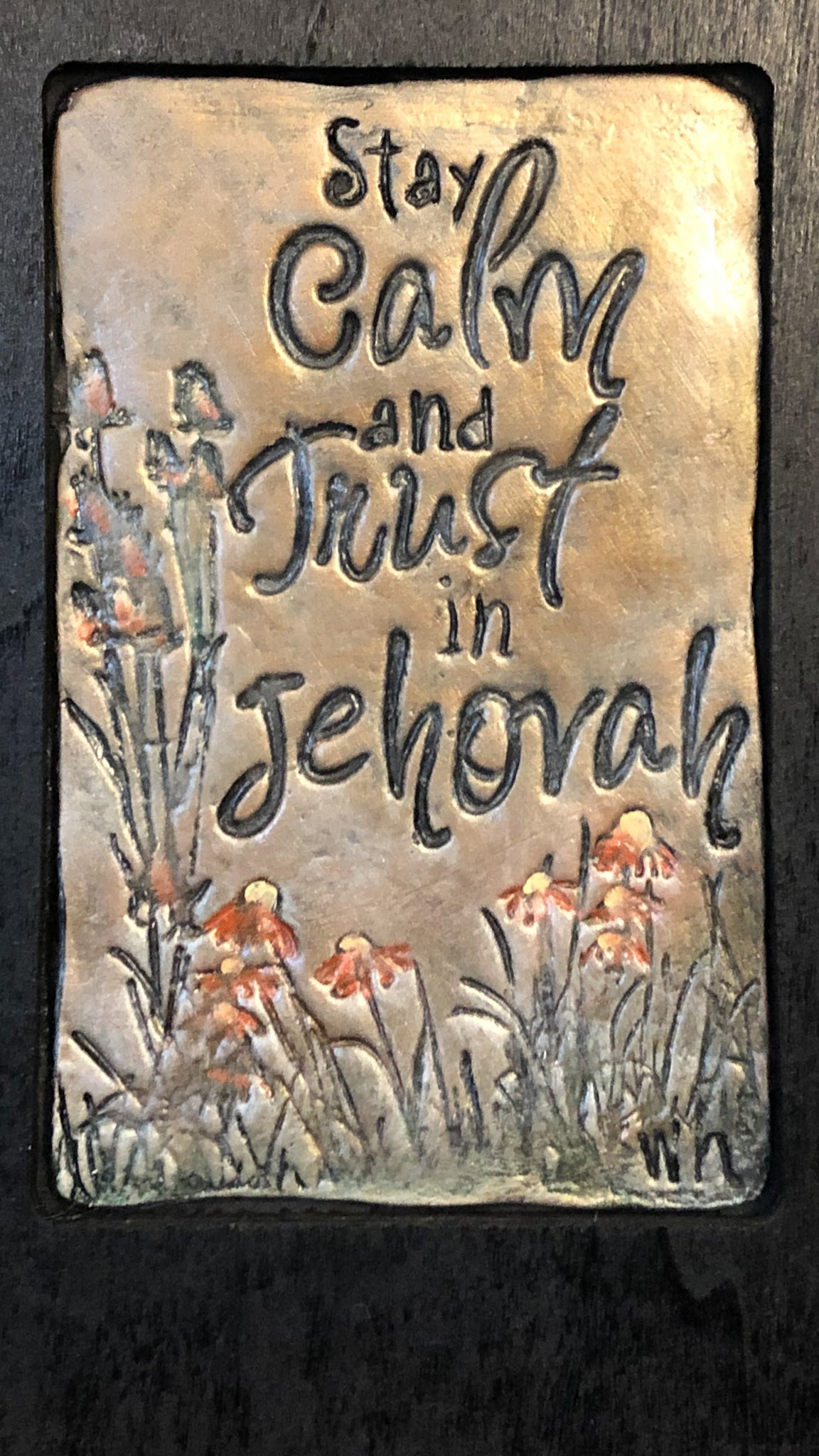 Trust in Jehovah | Hand Carved Plaque | Keep Calm | Stay Calm Inspirational Quote