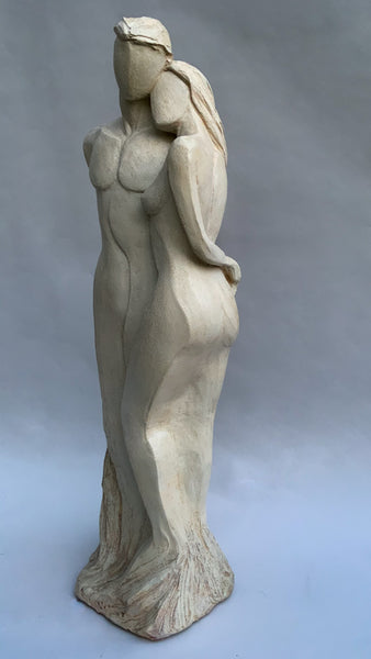 Togetherness | Limited Edition Hydro-Stone Sculpture | Couple in Tender Embrace