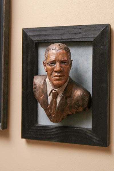 Yes We Can Obama Portrait Plaque