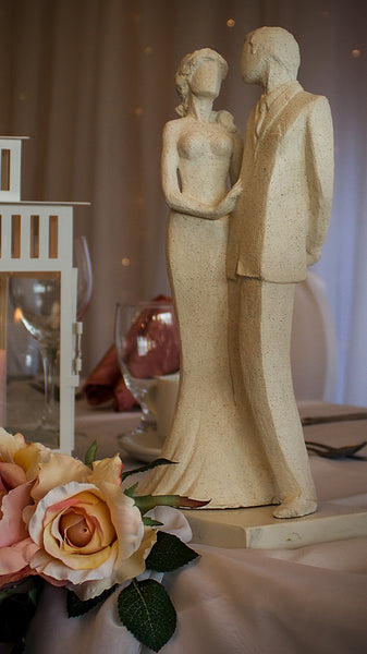 Jeremy & Nicola | Stoneware Sculpture | Embrace | Couple's Vow to Each other