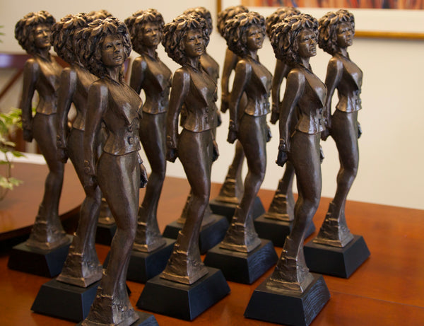 Strength and Focus | Resin Award | Trophy | African American Woman | Grace & Style | Multiple pieces during production