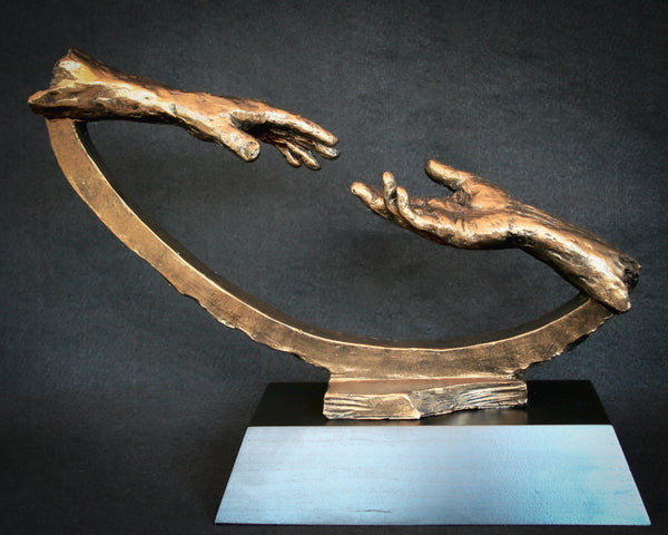 Two hands reaching to touch | Sculpture |Town of Ajax Outstanding Junior & Senior Civic Awards