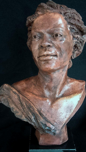* Ms.Rosa | Stoneware | Portrait Sculpture | African | Beauty | Braids