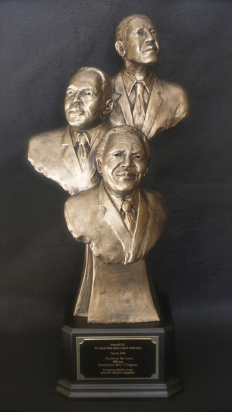 PRESIDENT BARACK OBAMA |DR. MARTIN LUTHER KING, JR. | NELSON MANDELA | Can | Limited Edition Sculpture | Award | Resin | Bronze |