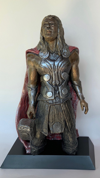 Headley Sculptures | Stoneware Sculpture | The Avengers | Thor | Super Hero | Prince | Son Of Odin | God of Thunder | Hammer-Wielding | Lightening