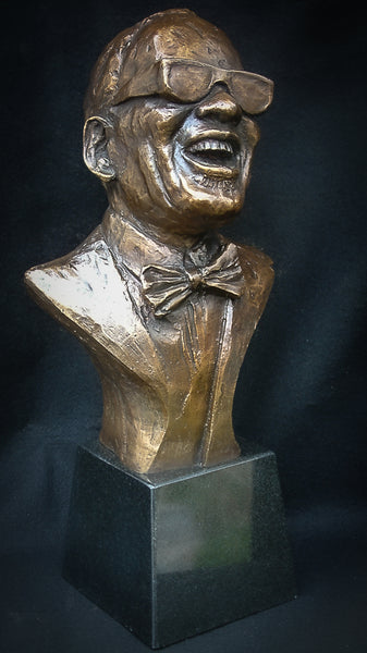 The Ray Charles Award by Headley | Wayne Headley |Bronze Limited Edition | Resin | Black Art | Blues | Jazz | R&B | Soul | Music | Blind | Inspiration