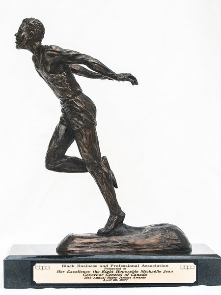 Harry Jerome Award | Custom Trophy | BBPA's Premium Award | Bronze | Resin | Runner