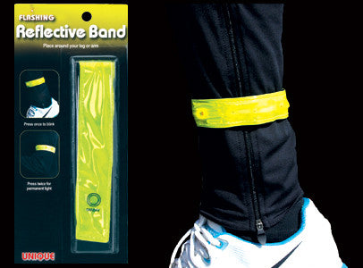 Running flashing reflective safety band