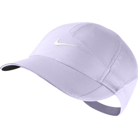 Nike feather-lite cap violet and frost white