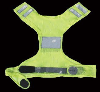 Reflective running safety vest