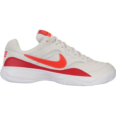 Women's Nike Court Lite Tennis Shoe - Red and White