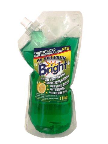 "OhSoBright 1l Concentrated Dish Washing Liquid ""easystore"" re-fill pack"