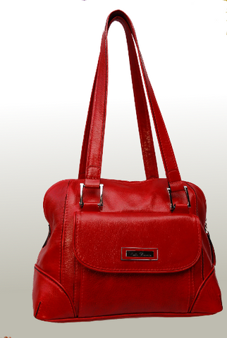 Bella Bianca ladies leather handbag Carla Red