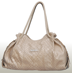 Bella Bianca ladies leather handbag Gabriella cream