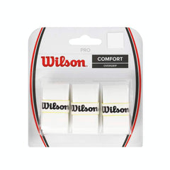 Wilson Pro Tennis overgrip grip 3 pack white