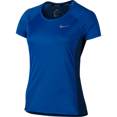 Nike Dry Miler Women's Running Top - Paramount Blue/Binary Blue
