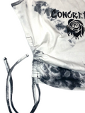 Concrete Rose white & black tie-dye