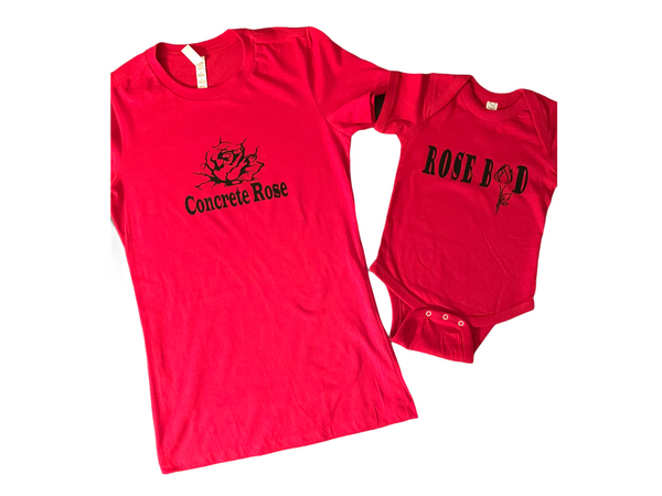 Concrete rose/ Rosebud Mommy set