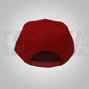 RED WITH NAVY LOGO SNAPBACK NEW ERA