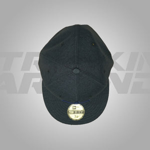 HEATHER NAVY FITTED HAT