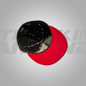 NEW ERA BLACK , RED TA FITTED