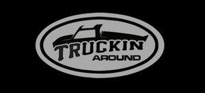 TRUCKIN AROUND ROUND LOGO DECAL