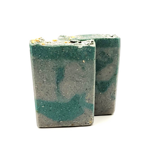 Charcoal & Oats Bar Soap - Swirled Peace - Kitchen Witch Co. - Kitchen Witch Co.