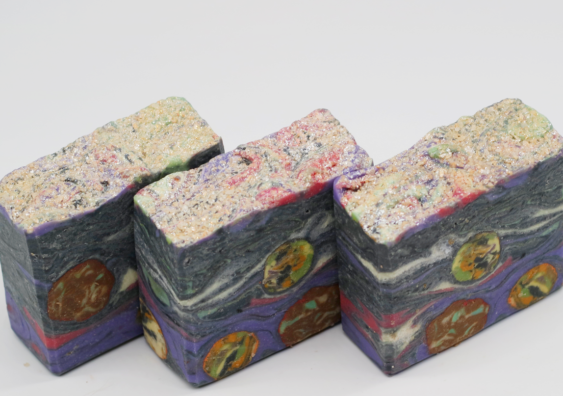 The Silent, Starry Night - Galaxy Soap Bar - Aurora Borealis - Kitchen Witch Co.