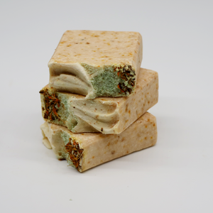 Rose Marie's Bees Soap Bar - Raw Honey & Marigold Flowers - Kitchen Witch Co.