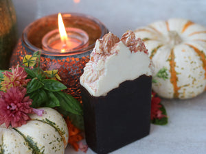 Mayan Hot Chocolate Frosted High Top Soap - Chocolate Avocado - Kitchen Witch Co. - Kitchen Witch Co.