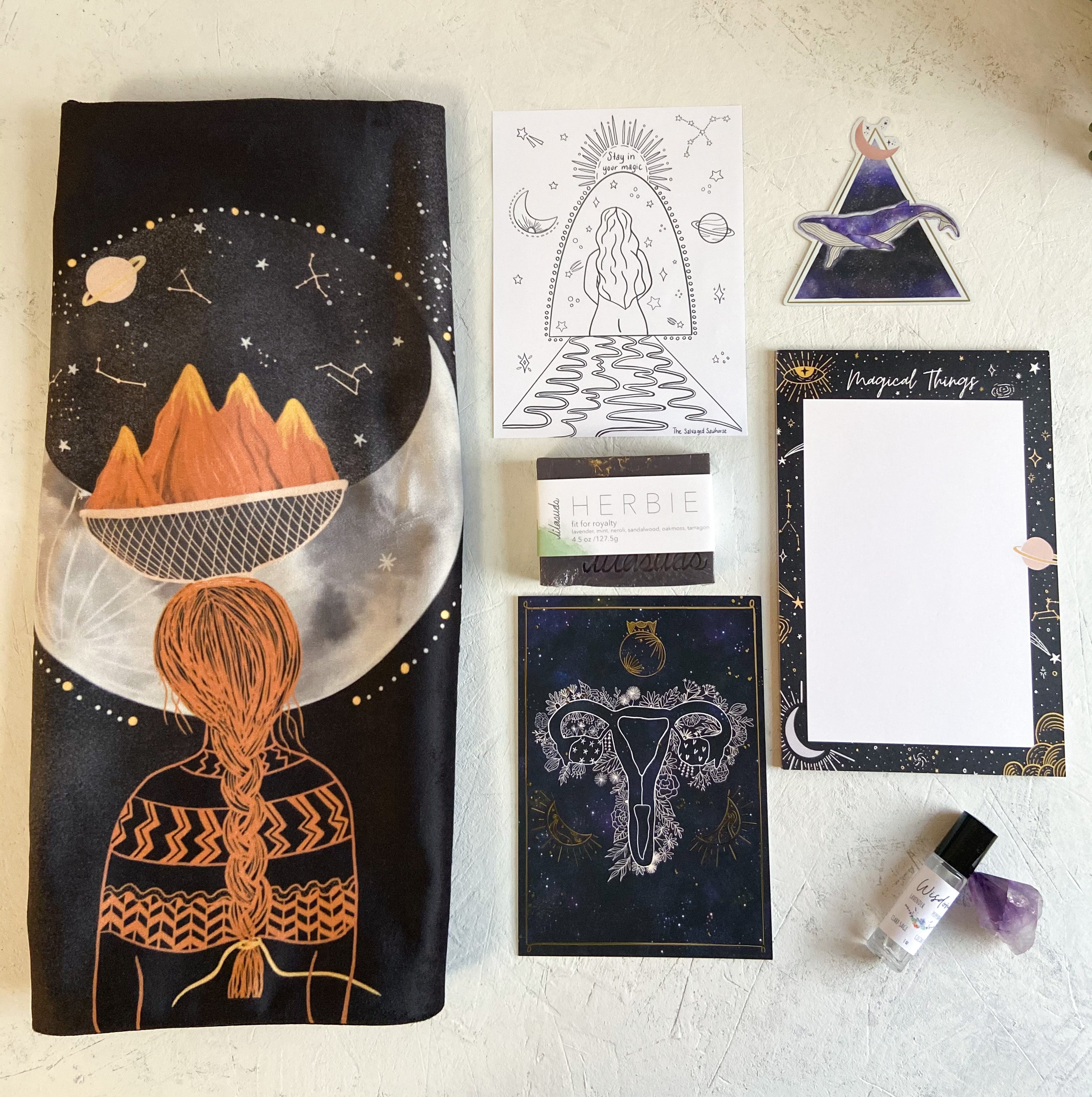 La Luna Box. A gift box full of celestial and cosmic inspired items to reconnect with the magic all around us.